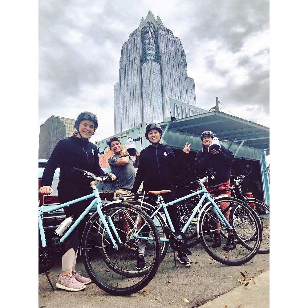 Kuri goes on a bike tour of Austin!